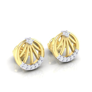 18Kt gold real diamond earring 13(1) by diamtrendz