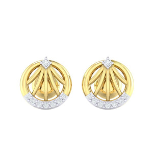 18Kt gold real diamond earring 13(2) by diamtrendz