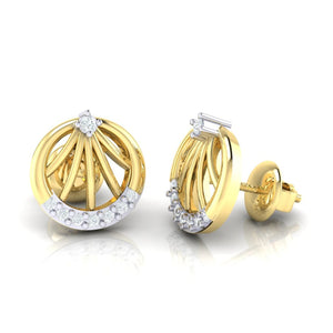 18Kt gold real diamond earring 13(3) by diamtrendz