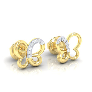 18Kt gold real diamond earring 14(1) by diamtrendz