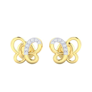 18Kt gold real diamond earring 14(2) by diamtrendz