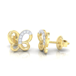 18Kt gold real diamond earring 14(3) by diamtrendz