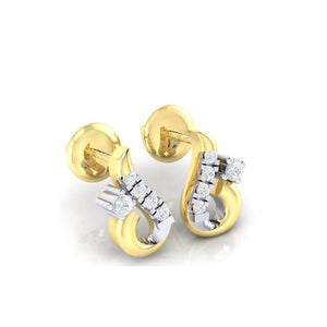 18Kt gold real diamond earring 16(1) by diamtrendz