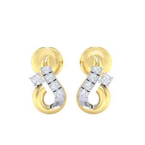 18Kt gold real diamond earring 16(2) by diamtrendz
