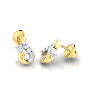 18Kt gold real diamond earring 16(3) by diamtrendz