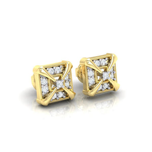 18Kt gold real diamond earring 17(1) by diamtrendz