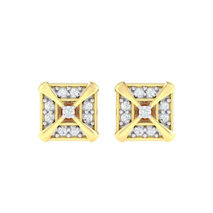 18Kt gold real diamond earring 17(2) by diamtrendz