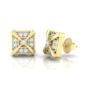 18Kt gold real diamond earring 17(3) by diamtrendz