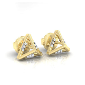 18Kt gold real diamond earring 18(1) by diamtrendz