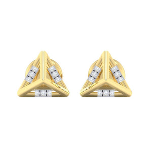 18Kt gold real diamond earring 18(2) by diamtrendz