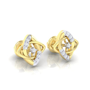 18Kt gold real diamond earring 19(1) by diamtrendz
