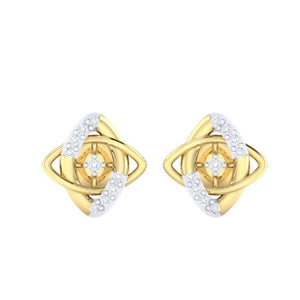 18Kt gold real diamond earring 19(2) by diamtrendz