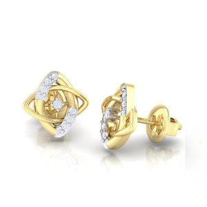 18Kt gold real diamond earring 19(3) by diamtrendz