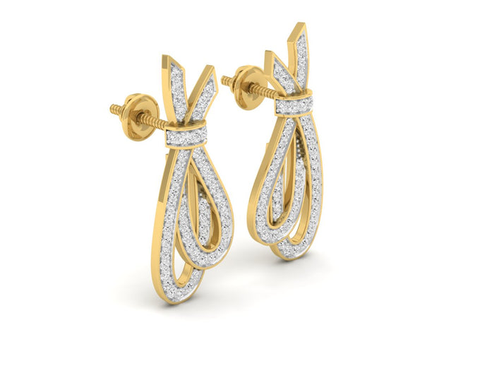 18Kt gold real diamond earring 1(1) by diamtrendz