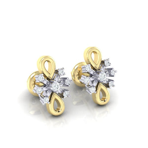 18Kt gold real diamond earring 20(1) by diamtrendz