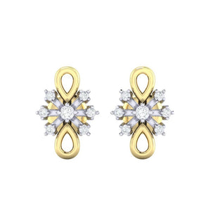 18Kt gold real diamond earring 20(2) by diamtrendz