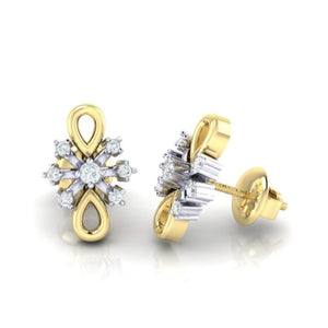 18Kt gold real diamond earring 20(3) by diamtrendz