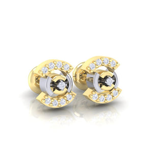 18Kt gold real diamond earring 21(1) by diamtrendz