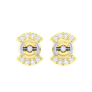 18Kt gold real diamond earring 21(2) by diamtrendz