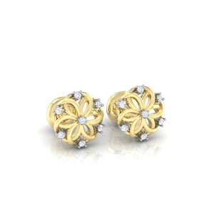 18Kt gold real diamond earring 22(1) by diamtrendz