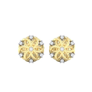 18Kt gold real diamond earring 22(2) by diamtrendz
