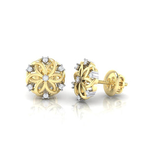 18Kt gold real diamond earring 22(3) by diamtrendz