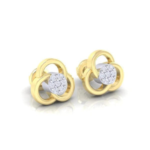 18Kt gold real diamond earring 23(1) by diamtrendz
