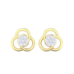 18Kt gold real diamond earring 23(2) by diamtrendz