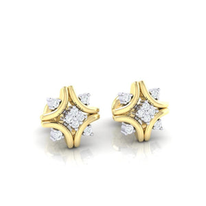 18Kt gold real diamond earring 24(1) by diamtrendz