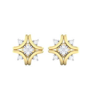 18Kt gold real diamond earring 24(2) by diamtrendz