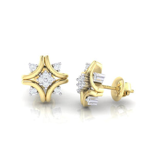 18Kt gold real diamond earring 24(3) by diamtrendz
