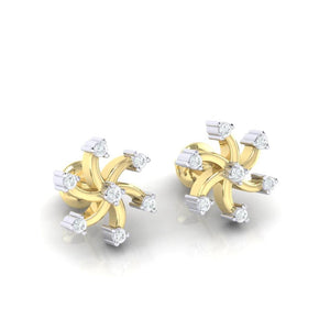 18Kt gold real diamond earring 25(1) by diamtrendz
