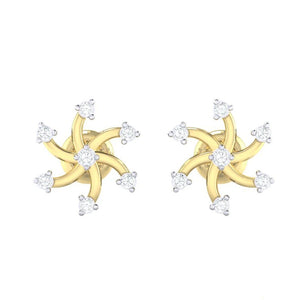 18Kt gold real diamond earring 25(2) by diamtrendz