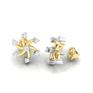 18Kt gold real diamond earring 25(3) by diamtrendz