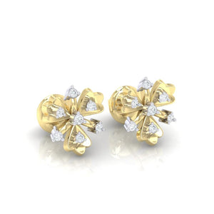 18Kt gold real diamond earring 26(1) by diamtrendz