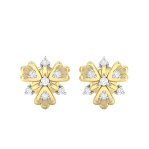 18Kt gold real diamond earring 26(2) by diamtrendz