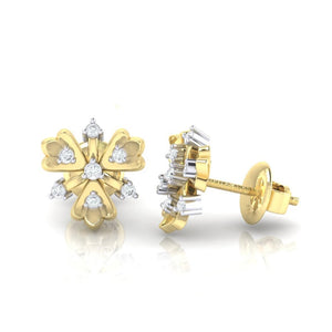 18Kt gold real diamond earring 26(3) by diamtrendz