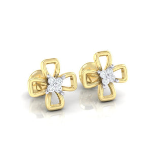 18Kt gold real diamond earring 27(1) by diamtrendz