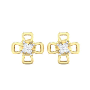 18Kt gold real diamond earring 27(2) by diamtrendz