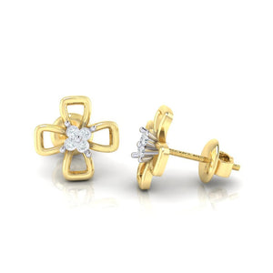 18Kt gold real diamond earring 27(3) by diamtrendz