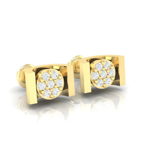 18Kt gold real diamond earring 28(1) by diamtrendz