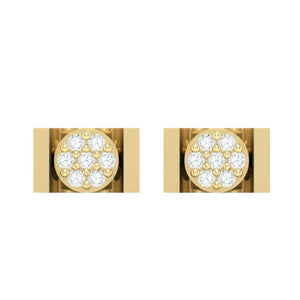 18Kt gold real diamond earring 28(2) by diamtrendz