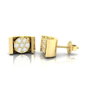 18Kt gold real diamond earring 28(3) by diamtrendz