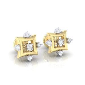 18Kt gold real diamond earring 29(1) by diamtrendz