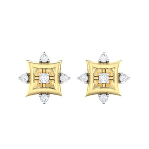 18Kt gold real diamond earring 29(2) by diamtrendz