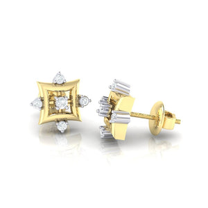 18Kt gold real diamond earring 29(3) by diamtrendz