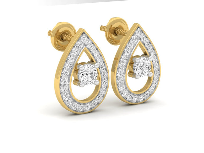 18Kt gold real diamond earring 2(1) by diamtrendz