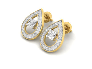 18Kt gold real diamond earring 2(2) by diamtrendz