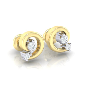 18Kt gold real diamond earring 30(1) by diamtrendz
