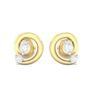 18Kt gold real diamond earring 30(2) by diamtrendz